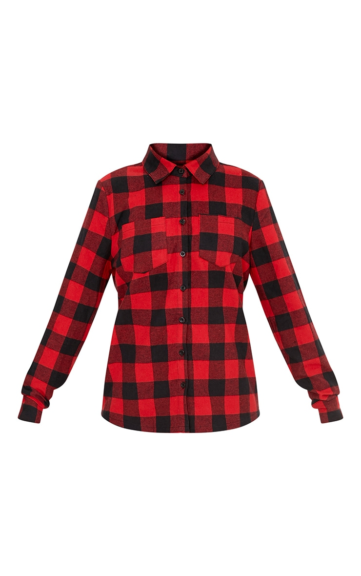 Layla Red Checked Shirt  3