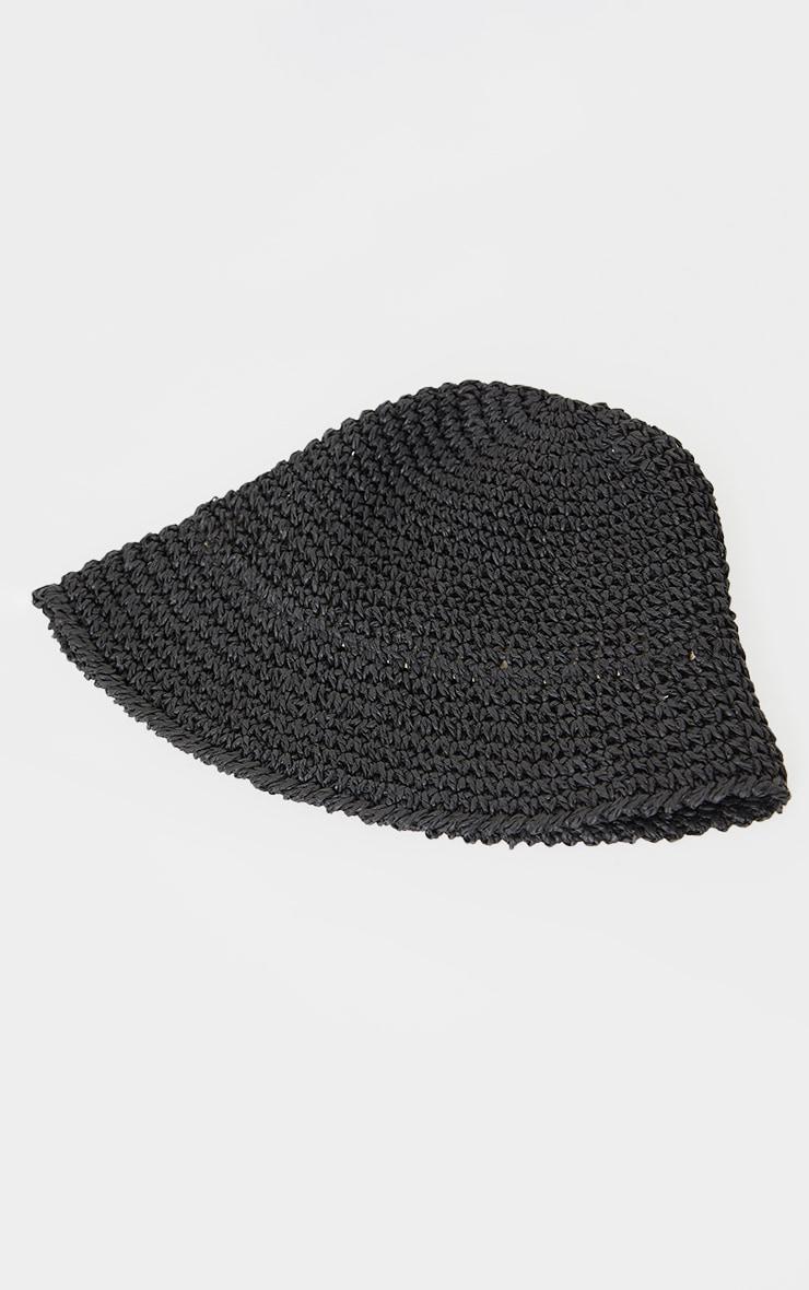 Black Crochet Bucket Hat 3