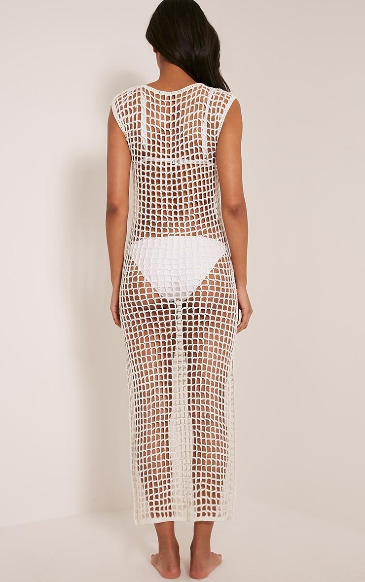 Sabrina Cream Crochet Maxi Dress 2