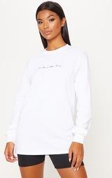 PRETTYLITTLETHING White Long Sleeve Tshirt 1