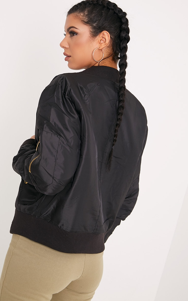 Alexus Black Bomber Jacket 2