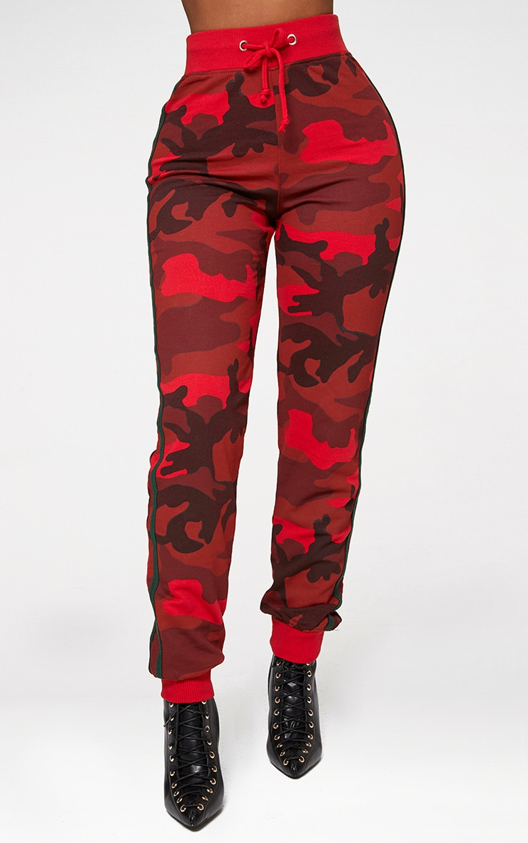 Shape Red Camo Side Stripe Joggers 2