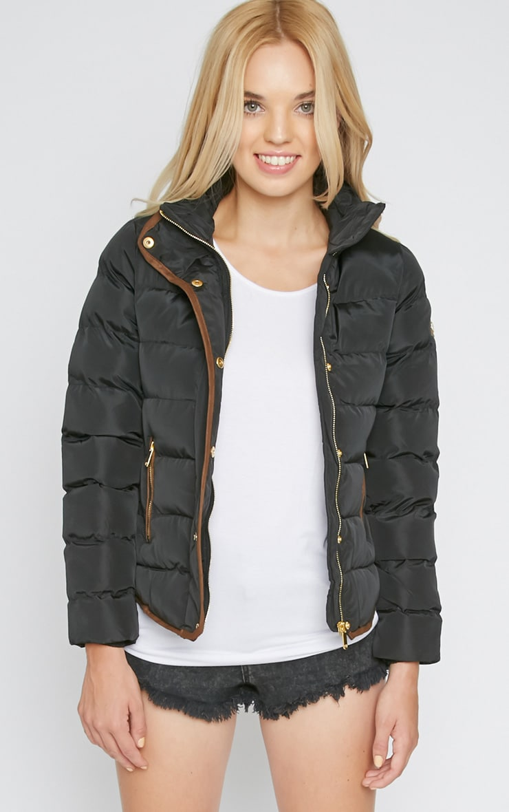 Jenny Black Quilted Jacket  1