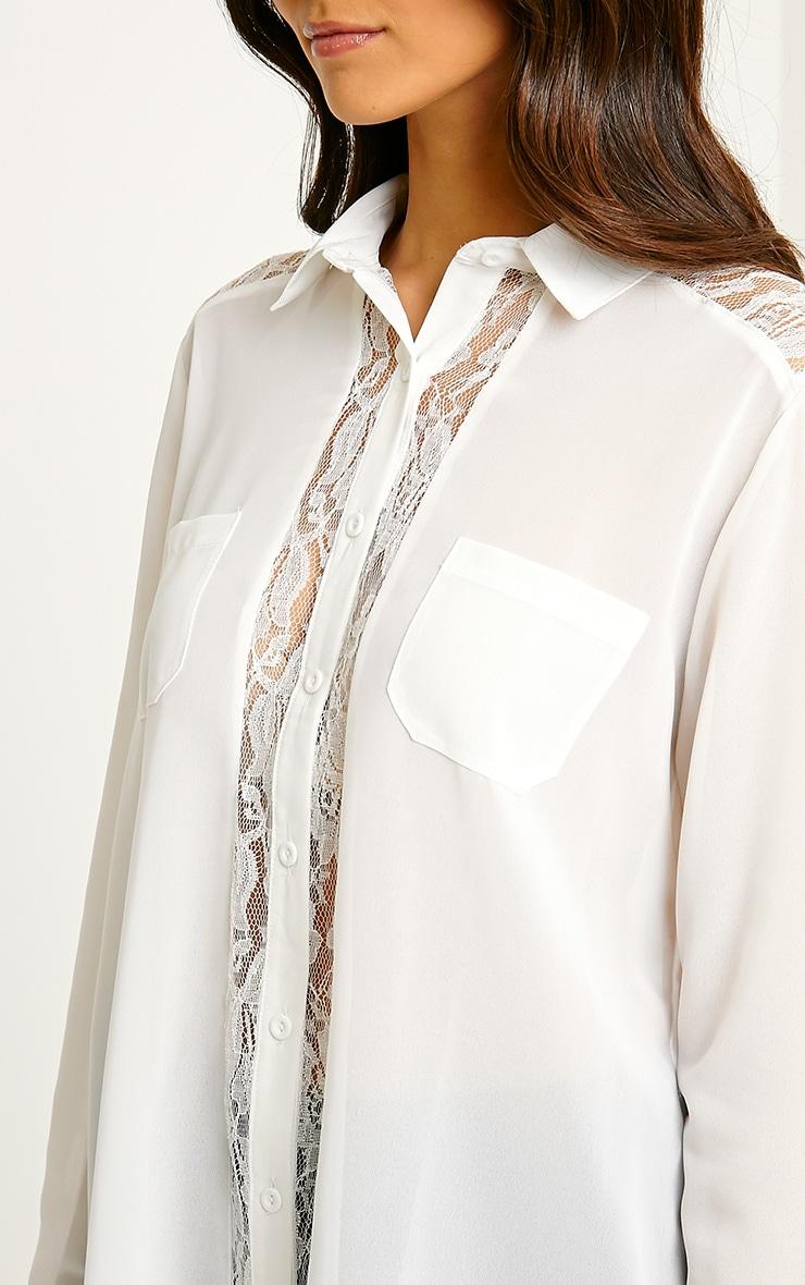 Ruri Cream Lace Detail Shirt 5