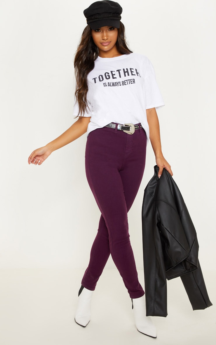 Purple Disco Fit Skinny Jean 1