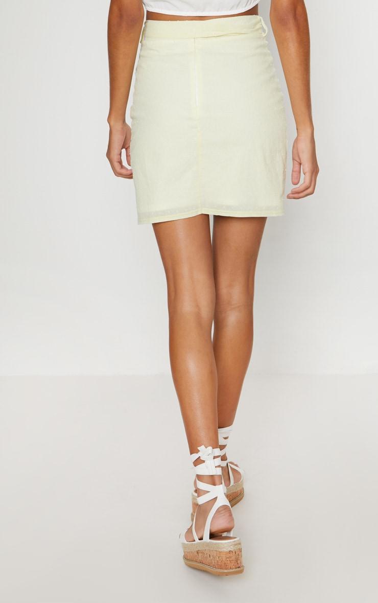Lemon Textured Mini Skirt 4