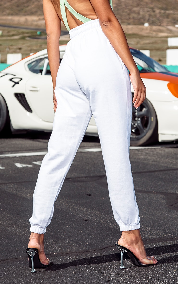 Petite White Casual Track Pants 3