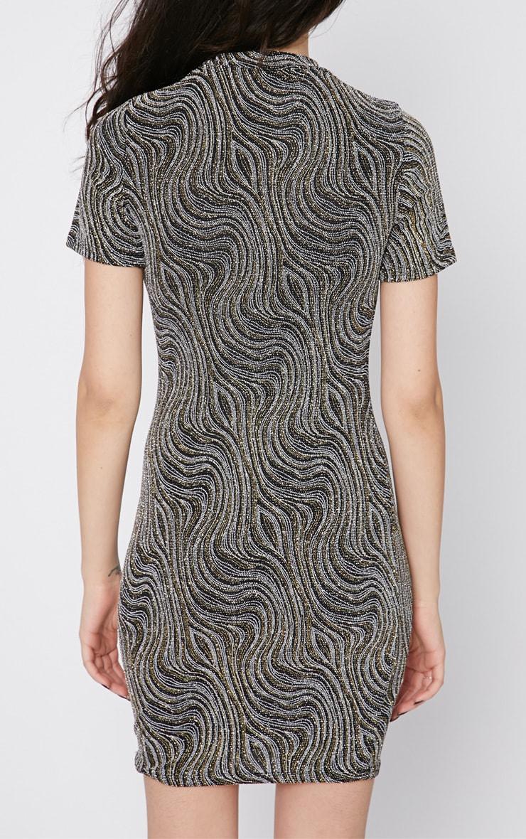 Jordan High Neck Glitter Dress 2