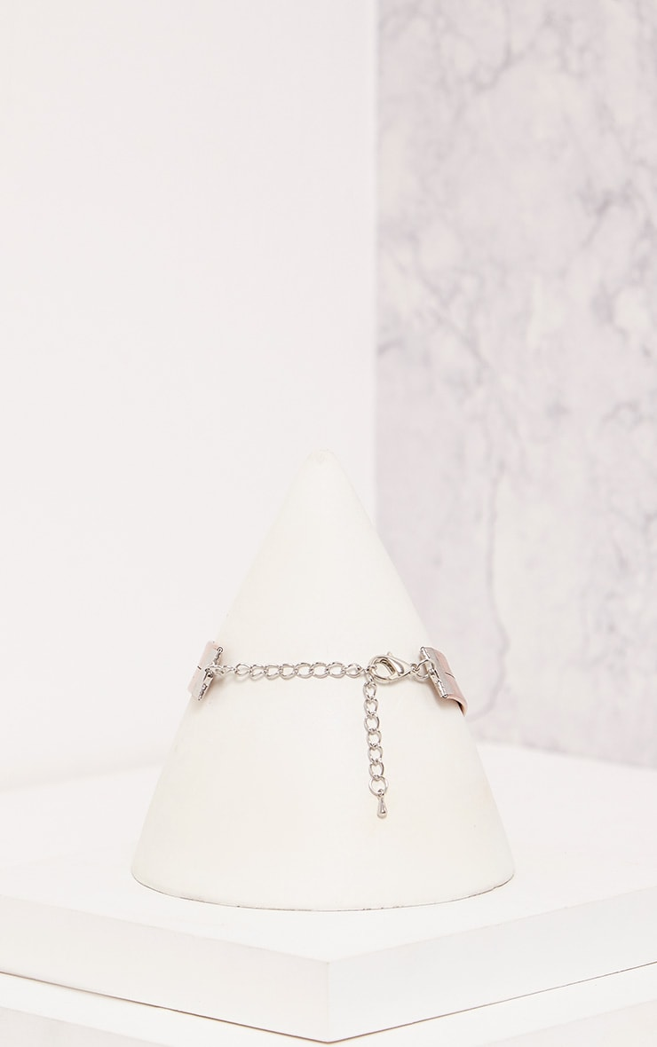 Tegan Rose Gold Holographic Choker 5