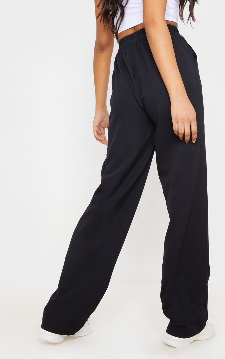 Black Waistband Straight Leg Pants 4