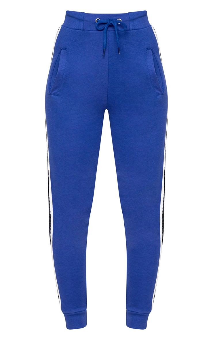Cobalt Side Stripe Joggers 3