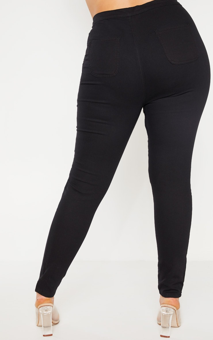 Plus Black Stretch Jegging 2