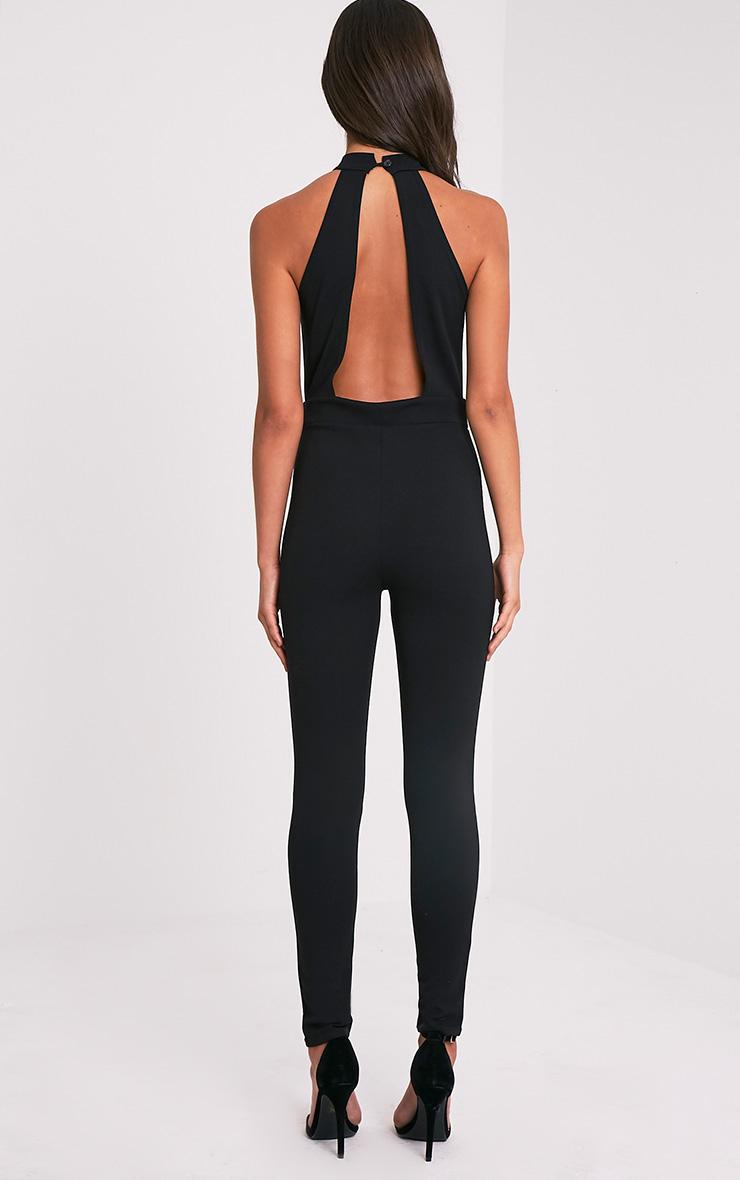 Oliviah Black Harness Crepe Jumpsuit 3