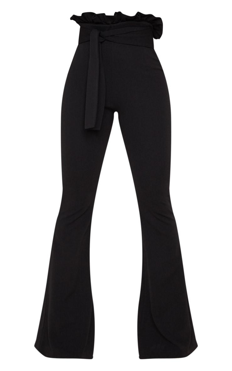 Black Paperbag Waist Flared Trouser 3