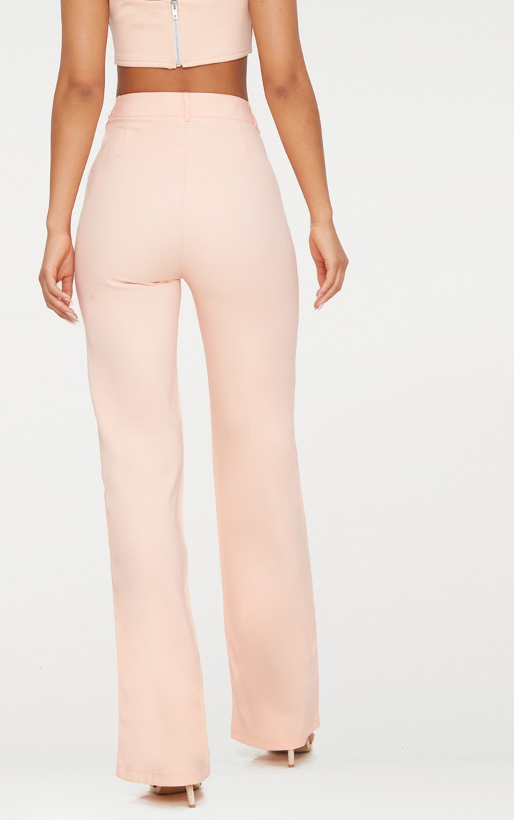 Blush High Waisted Straight Leg Trousers 4