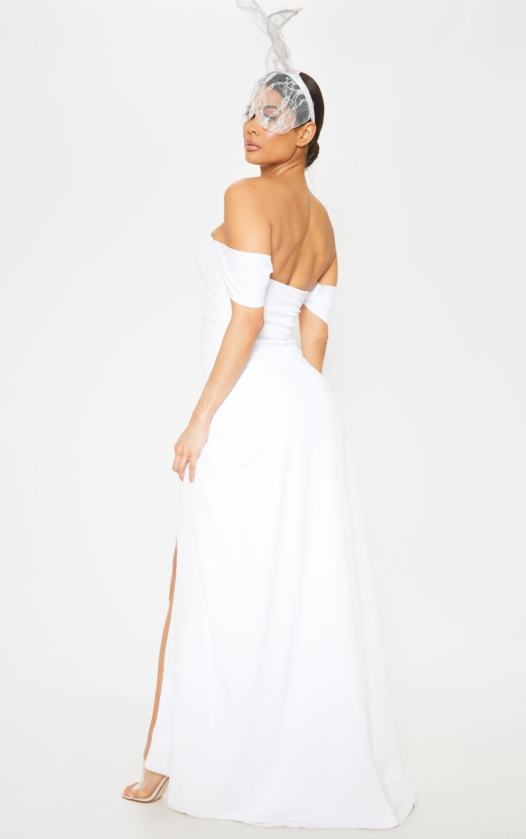 White Cup Detail Maxi Dress 2