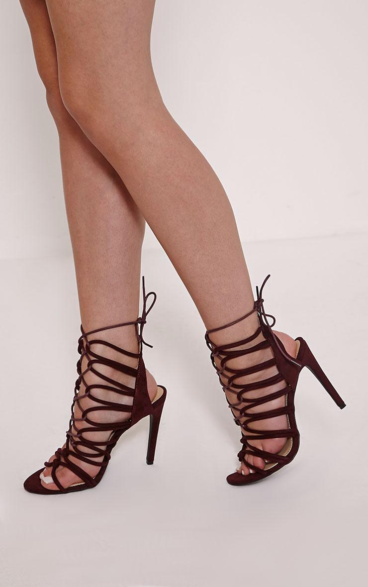 Lenore Berry Multi Strap Heels 1