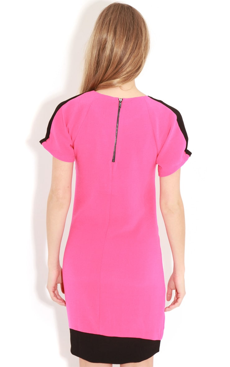 Kenzie Fuschia & Black Shift Dress 2