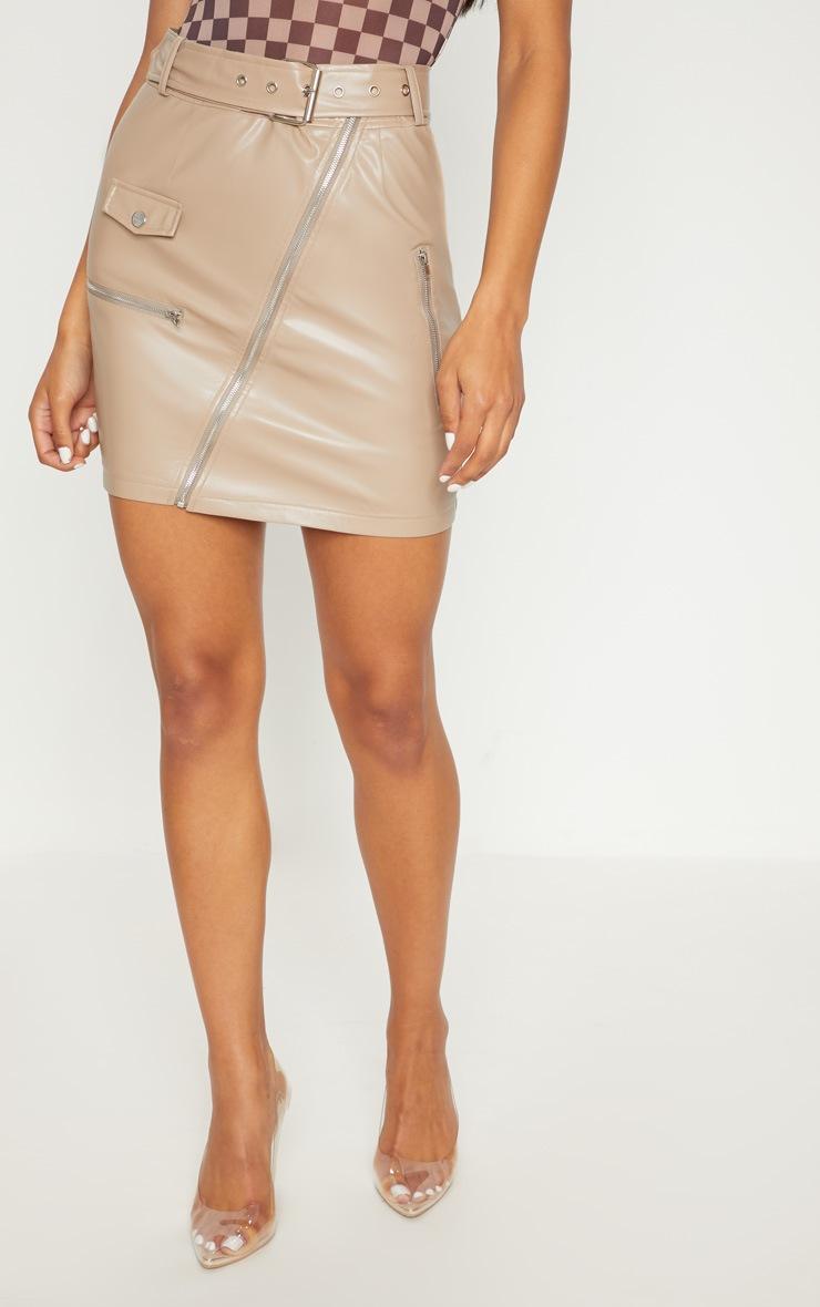 Stone Biker Belted Mini Skirt 2