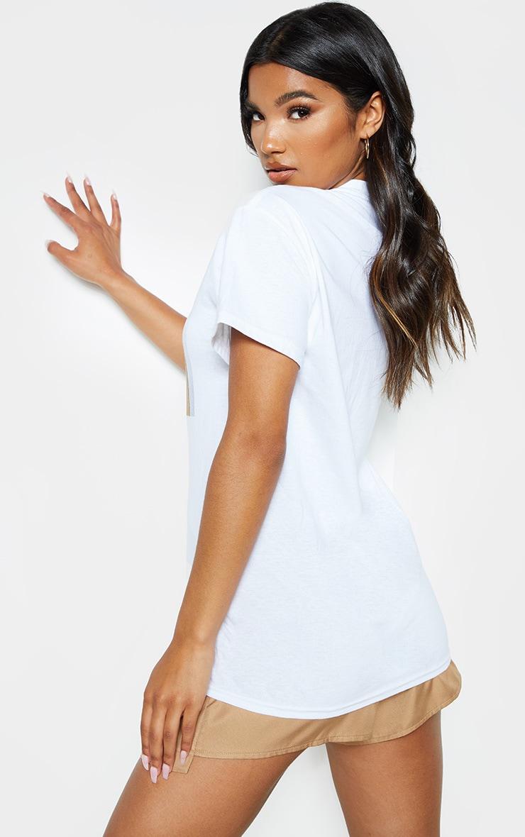 T-shirt oversize blanc imprimé Le Diable s'Habille en Prada à slogan That's All 2