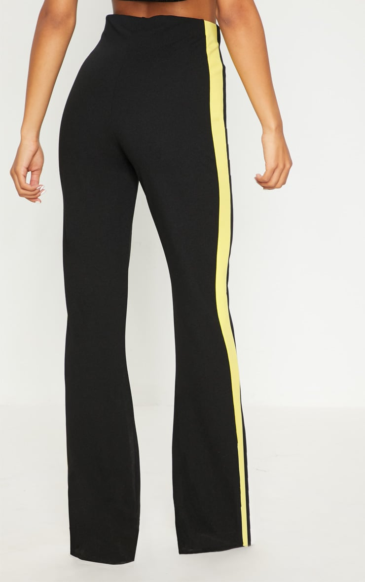 Black High Waisted Side Stripe Trouser 4