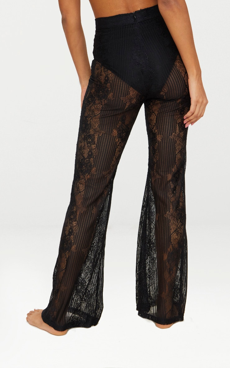 Black Lace Insert Beach Flares 3