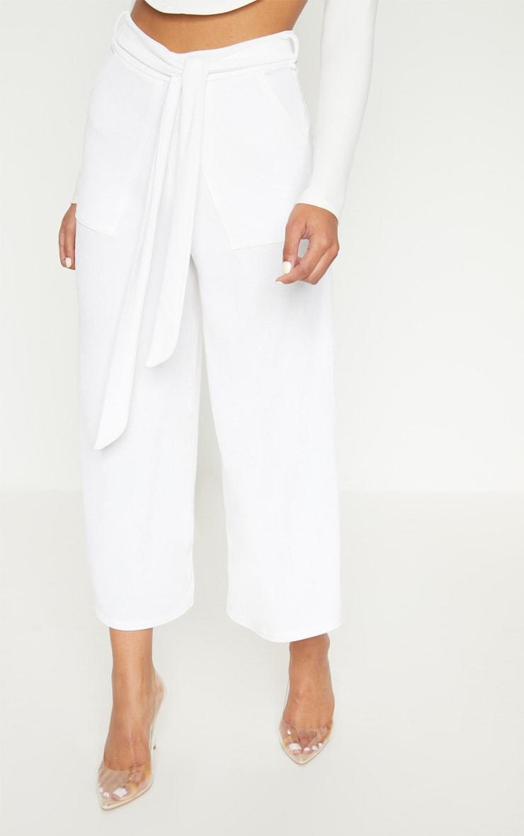 White Tie Waist Culotte 2