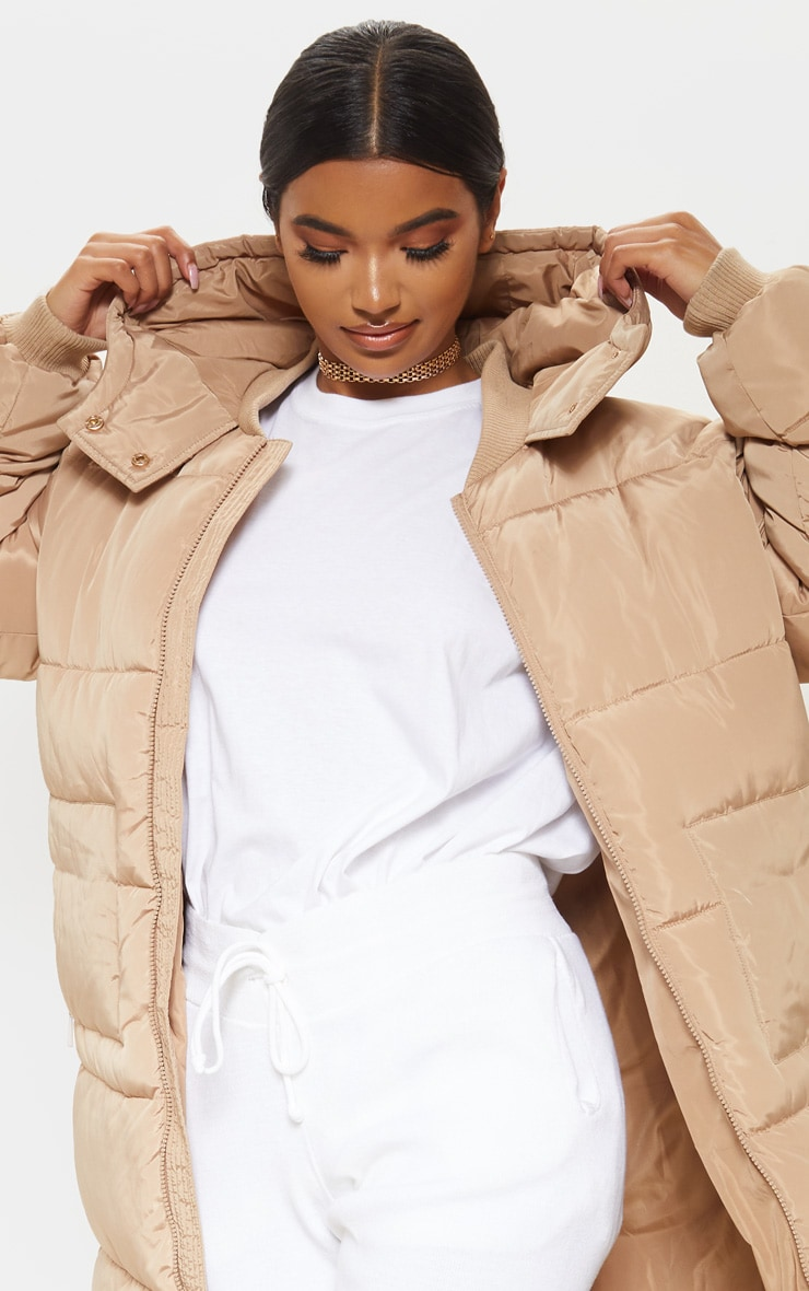 Stone Maxi Hooded Puffer  5