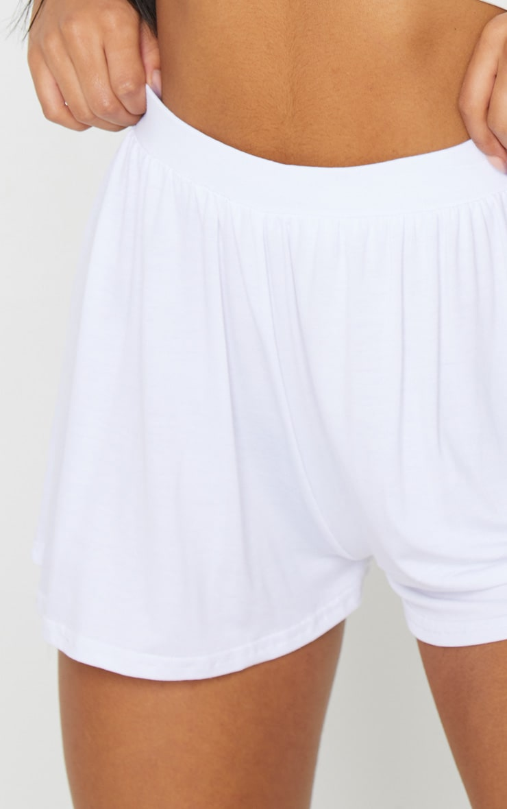 Lucilla White Jersey Floaty Shorts 5