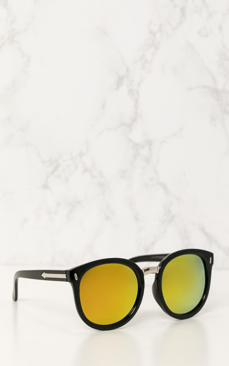 Gold Mirrored Rounded Sunglasses 2