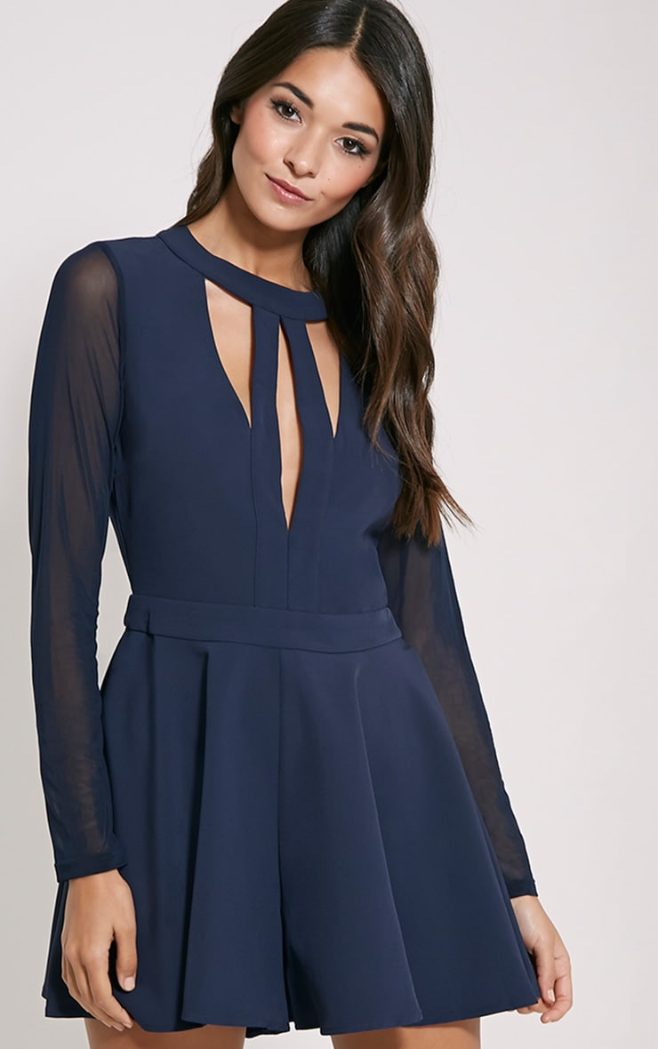 Darleen Navy Cut Out Detail Playsuit 3