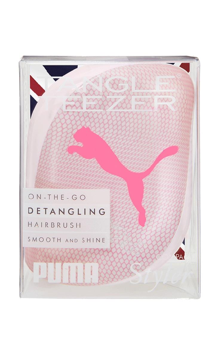 Tangle Teezer X PUMA Compact Styler Detangling Hairbrush Neon Pink 5