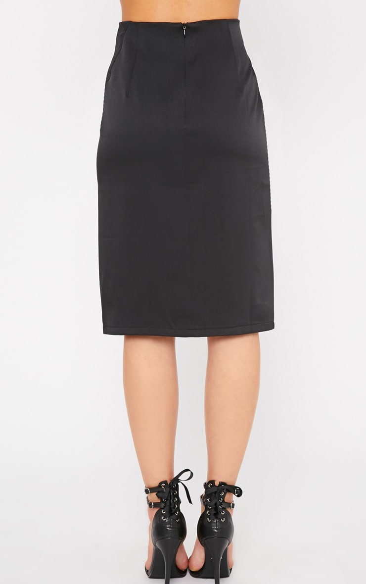 Ginny Black Slit Midi Skirt  2