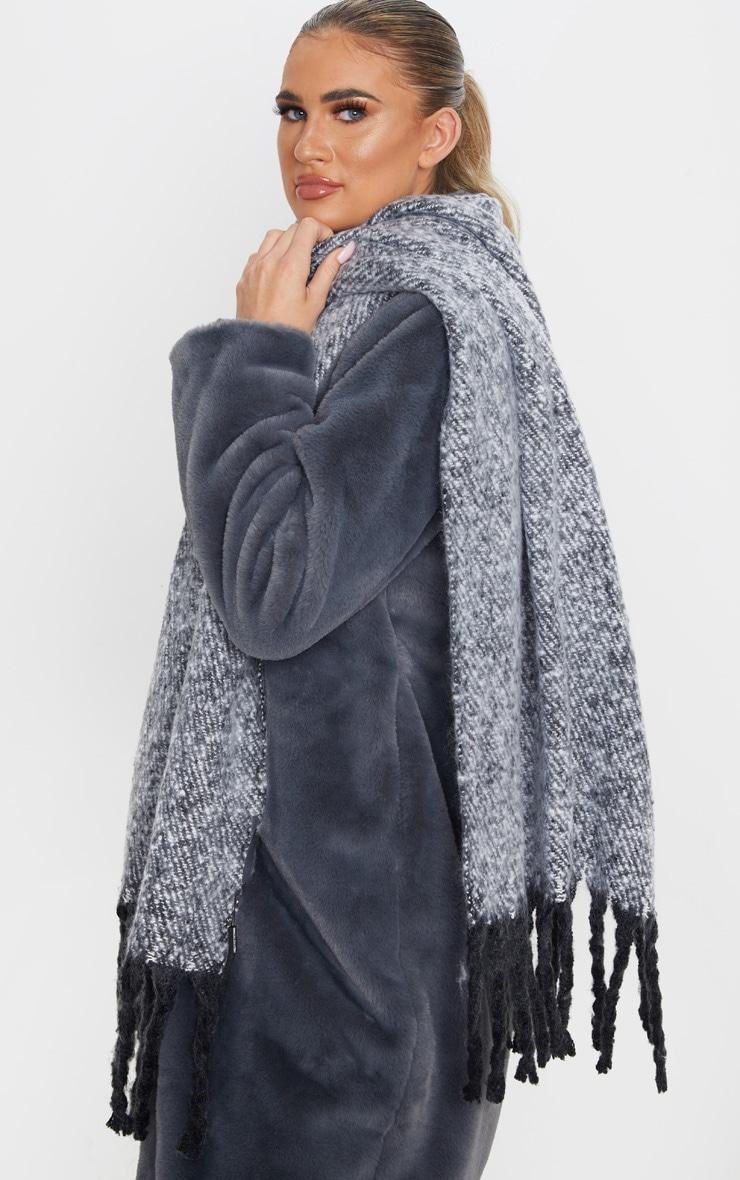 Black Super Soft Mini Blanket Scarf 1