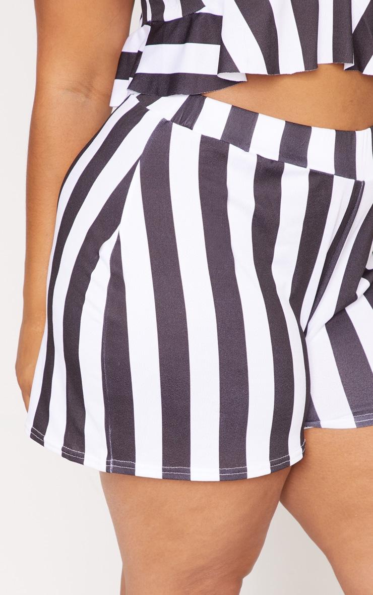 Plus White Stripe Shorts 6