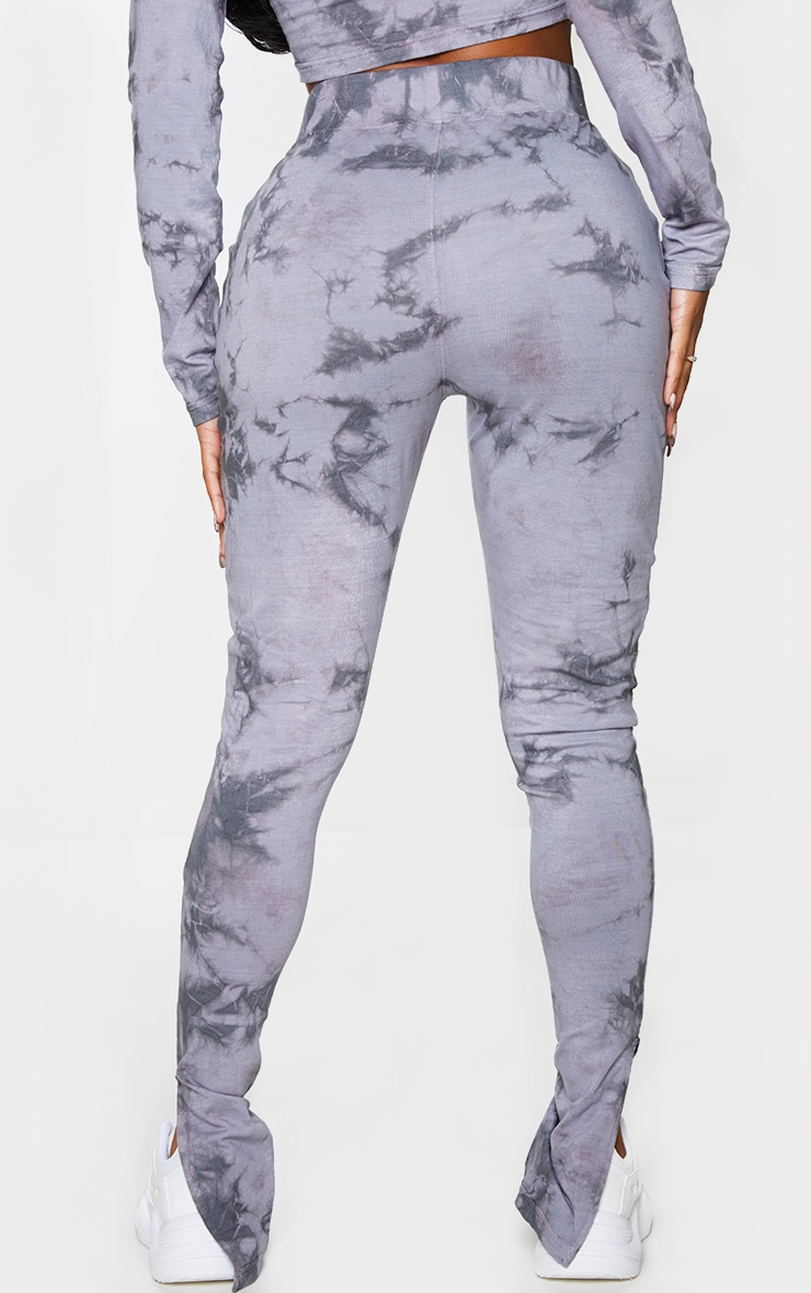 Shape Grey Tie Dye Split Hem Leggings 3