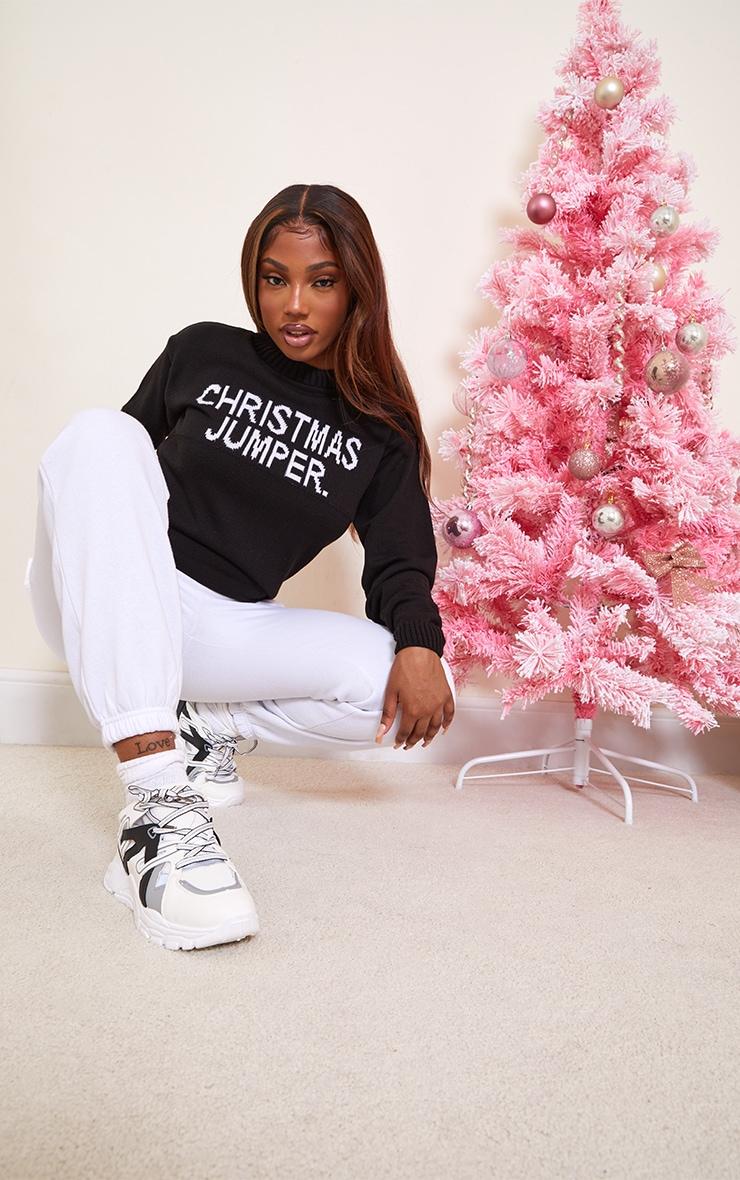 Black Christmas Jumper Slogan Jumper 3