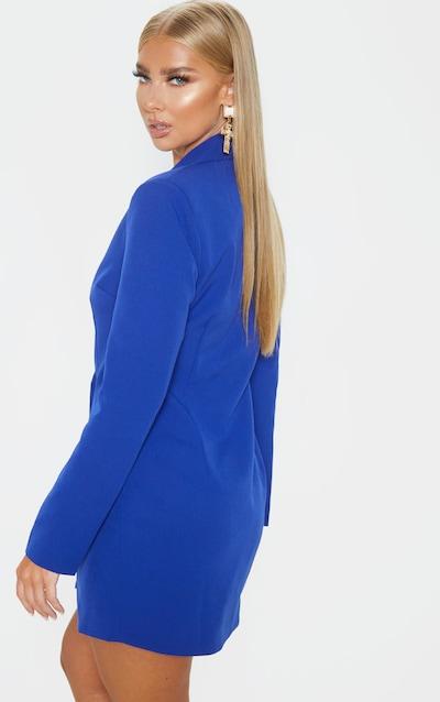 Blue Gold Button Blazer Dress