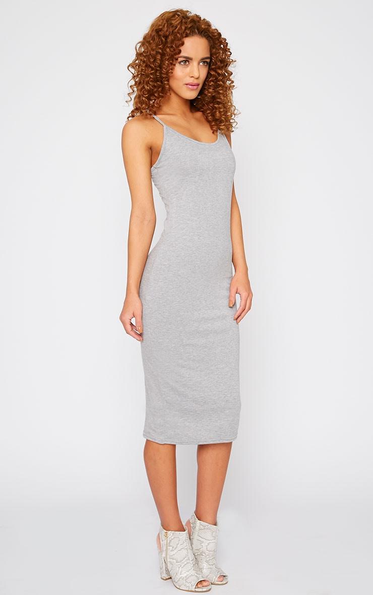 Basic Grey Midi Dress 1