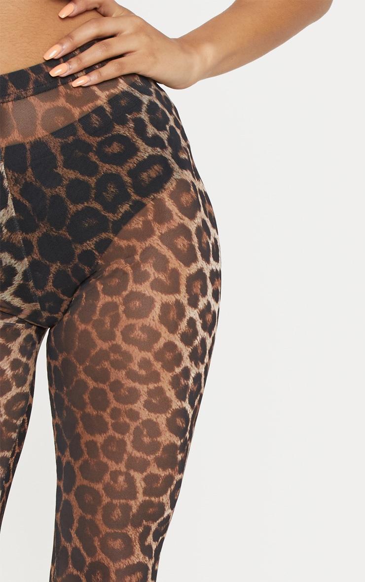 Leopard Print Mesh Legging 5