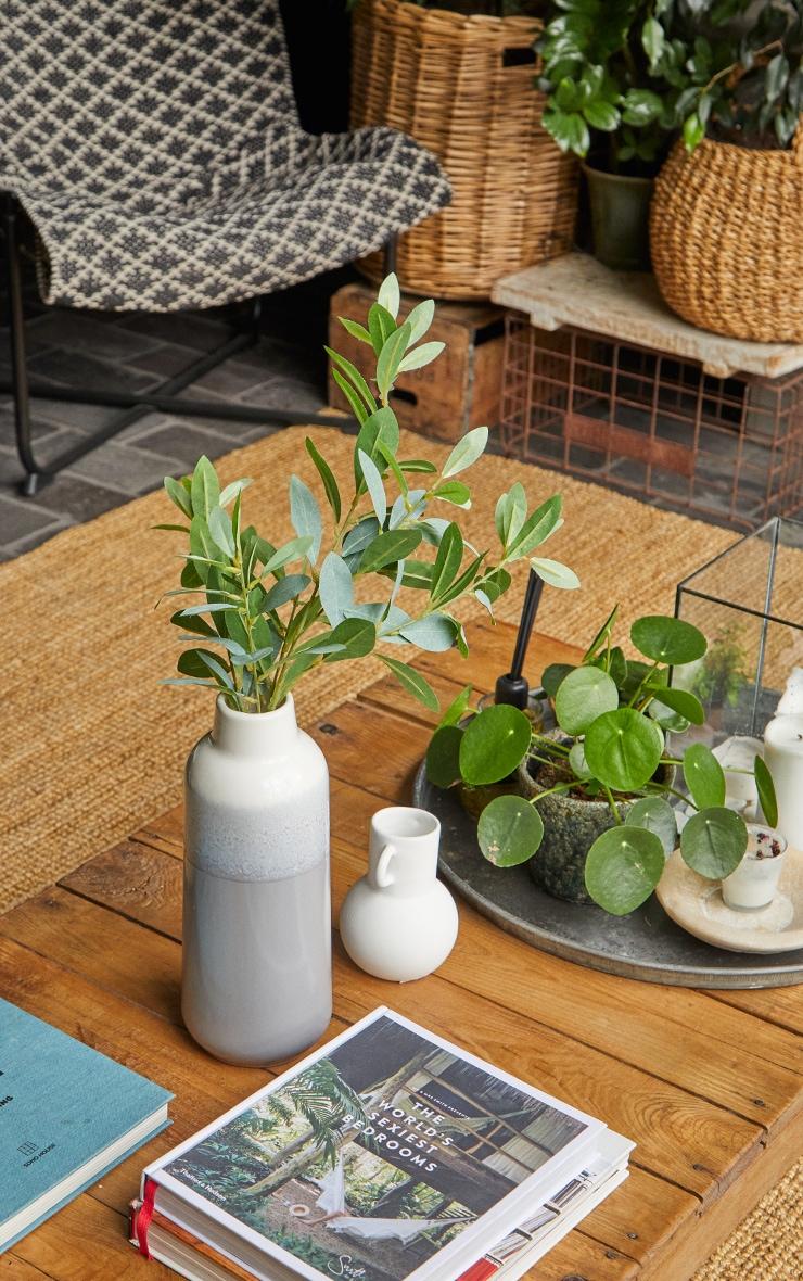 Green Silk Leaf Spray Branch Artificial Flower 1