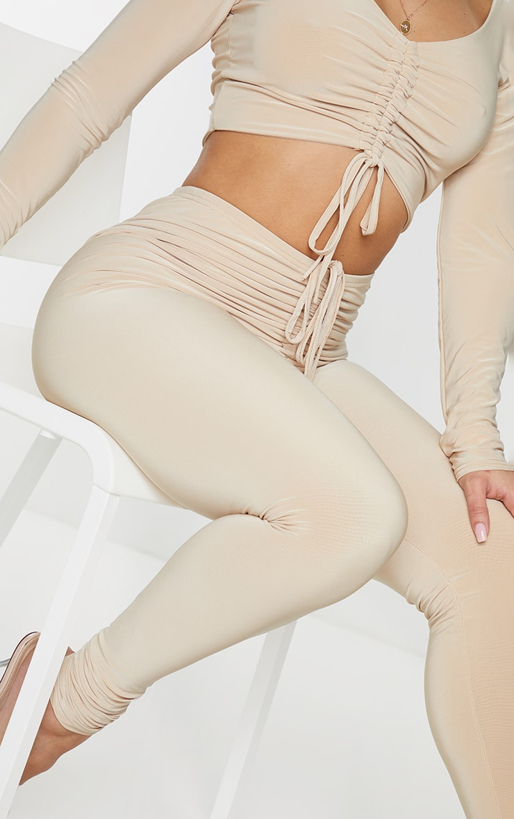 Shape Stone Slinky Ruched Front Leggings 4
