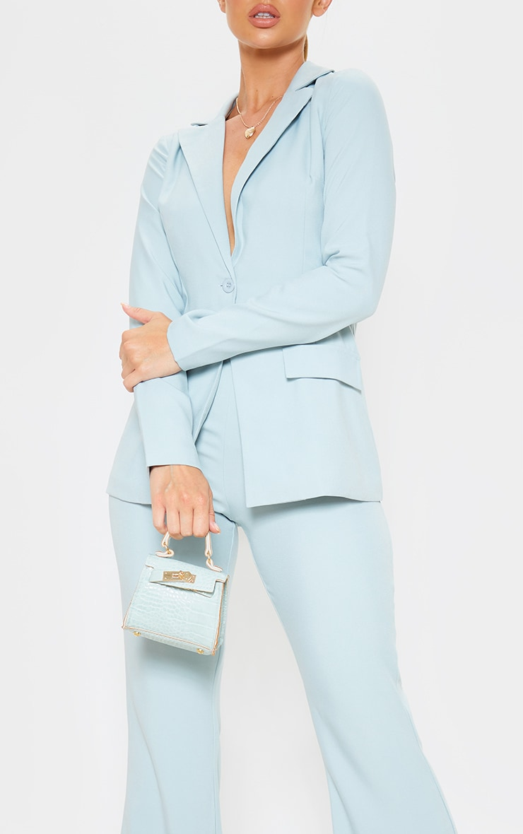 Mint Wide Legged Suit Trouser  5