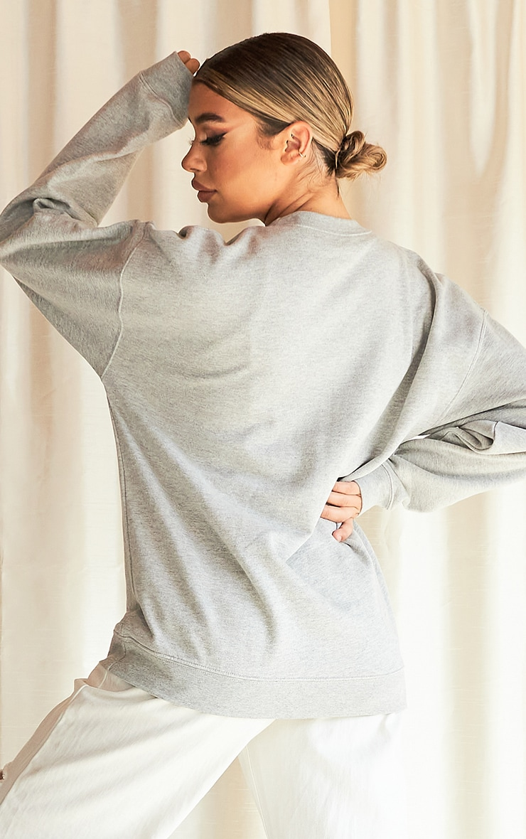 Grey No Place Like Home Slogan Sweater 2