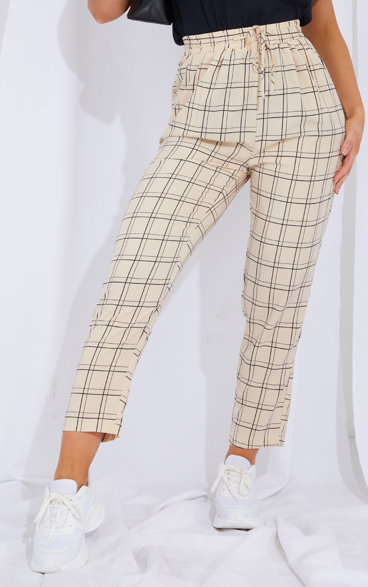 Stone Check Casual Pants 2