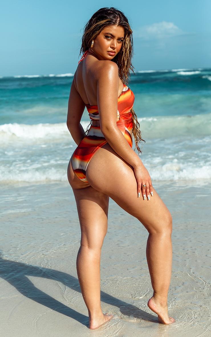 Orange Ombre Underwired Bikini Top 2