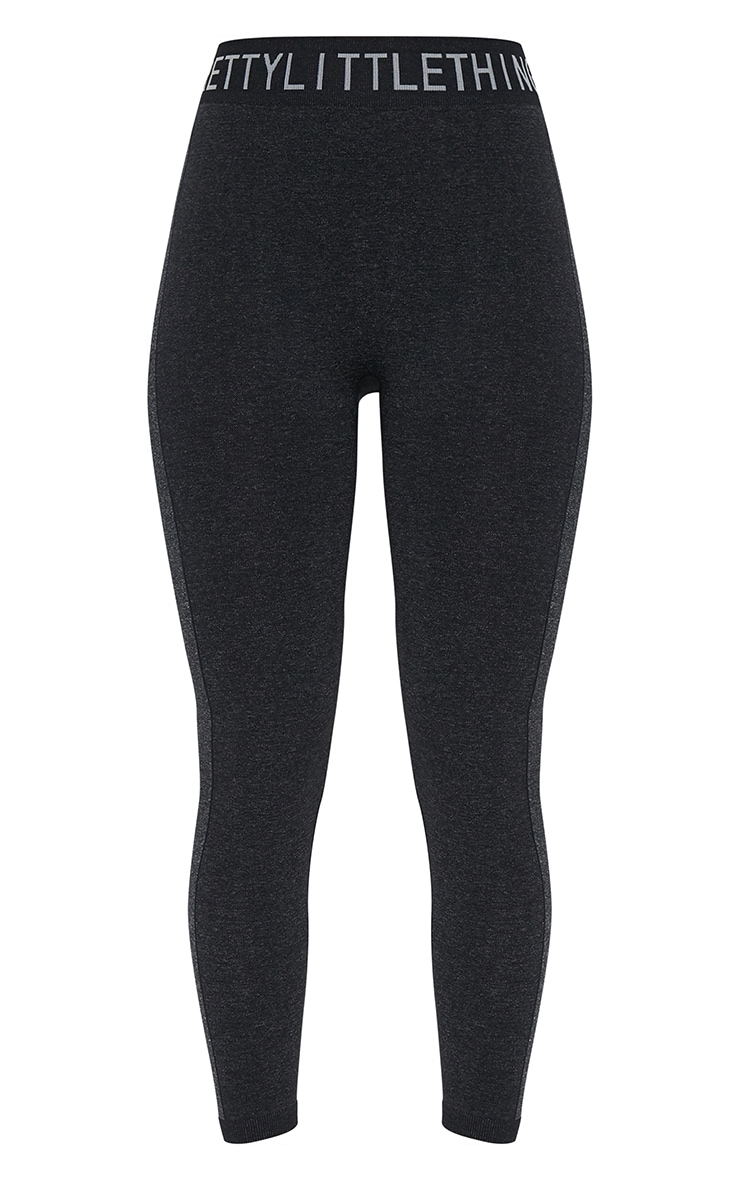 PRETTYLITTLETHING Black Seamless Gym Legging 5