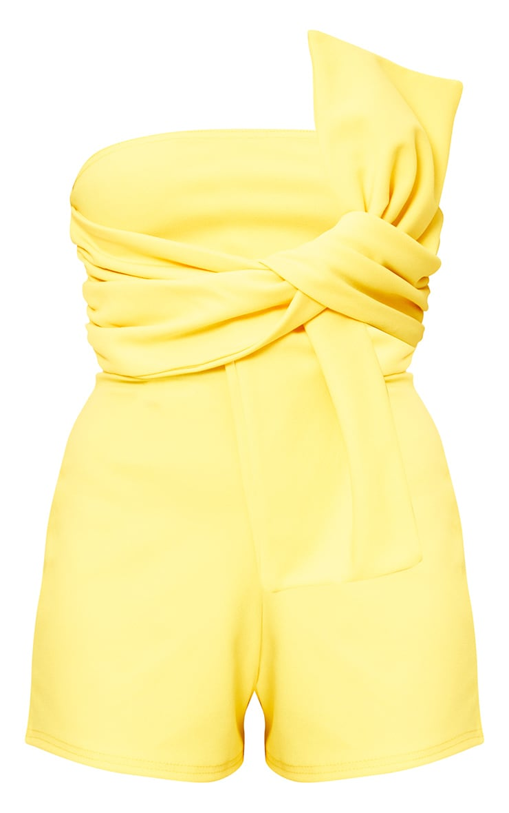 Yellow Bow Bardot Playsuit 3