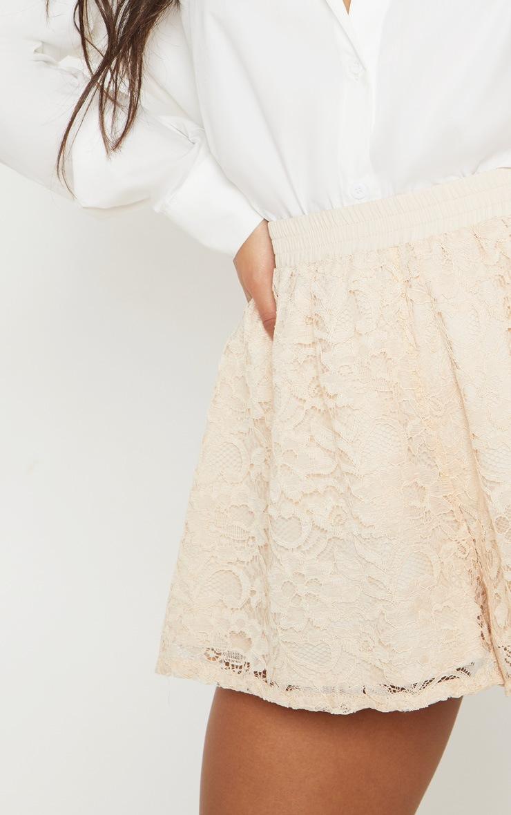 Cream Floaty Lace Short 6
