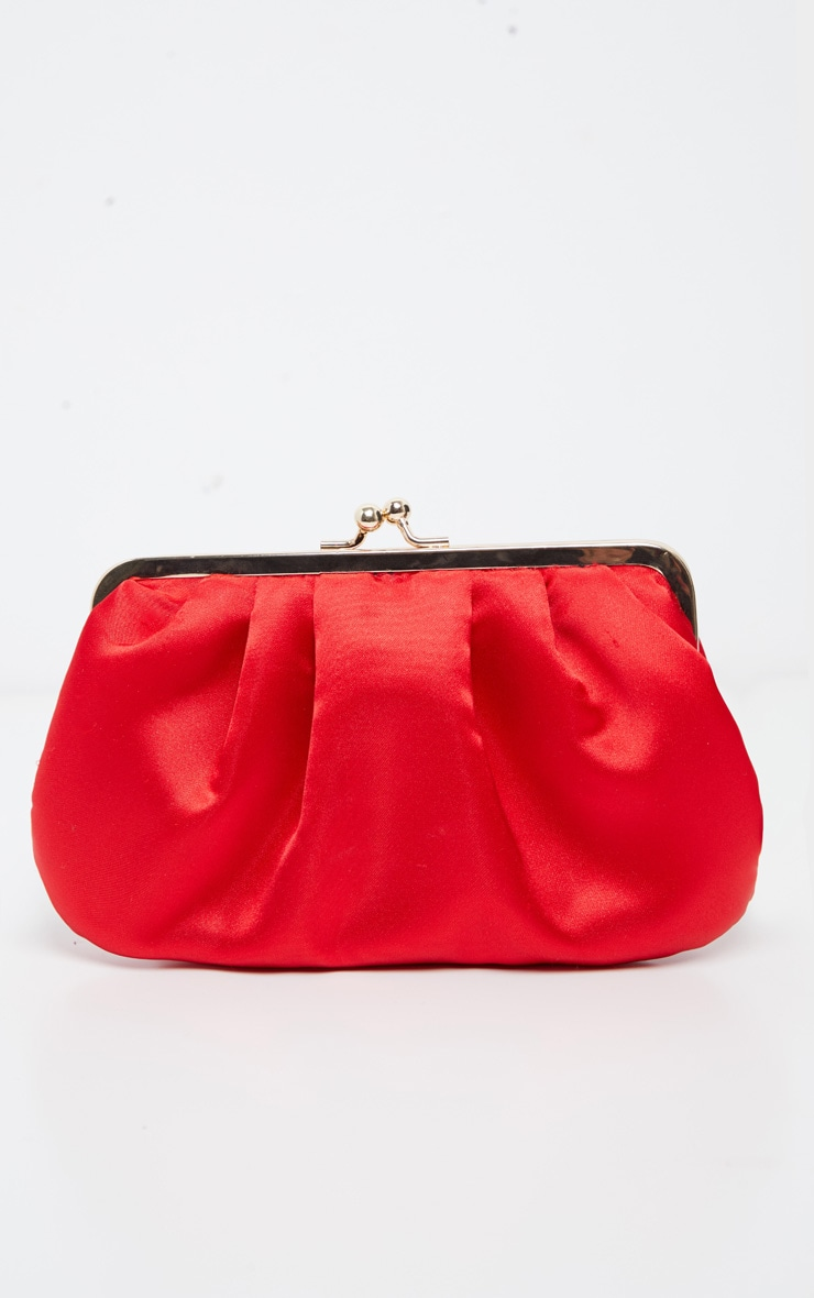 Red Satin Clutch  2